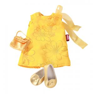 Gotz - 3402194 - Robe jaune avec chaussures, 45-50cm (179979)