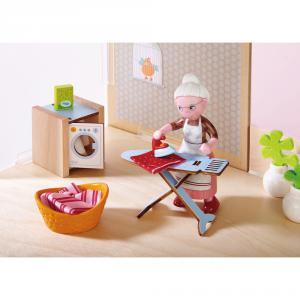 Haba - 303015 - Little Friends – Accessoires pour maison de poupée Journée de lessive (350162)