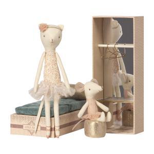 Maileg - 16-8601-00 - Dancing cat et mouse in shoebox (391918)