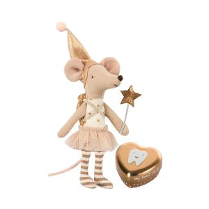 Maileg - 16-8730-01 - Tooth fairy, Big sister mouse w. metal box - Taille 12 cm - de 0 à 36 mois (391944)