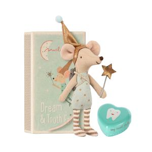 Maileg - 16-8731-01 - Tooth fairy, Big brother mouse w. metal box (391946)