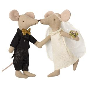 Maileg - 16-8740-01 - Wedding mice couple in box - Taille 15 cm - de 0 à 36 mois (391968)