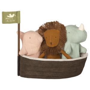 Maileg - 16-8956-00 - Noah`s Ark with 3 mini animals (392064)