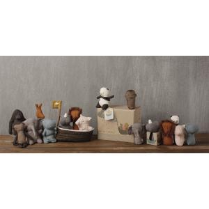 Maileg - 16-8956-00 - L'ache de Noah avec 3 mini animaux, Noah's Friends, taille : H : 22 cm - L : 25 cm - l : 10 cm (392064)