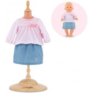 Corolle - 140310 - Vêtements Bébé 36 cm top & jupe - Mon Grand Poupon  - age 2+ (398812)