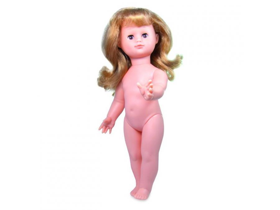 Multicoloured lgs,frange,blds yeux bruns Baby Dolls Petitcollin 964372 /ÉMILIE 39 cm NUE,chev