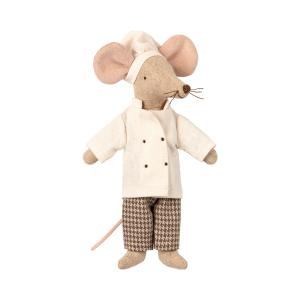 Maileg - 16-9745-00 - Chef Souris, taille : H : 15 cm  (406536)