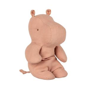 Maileg - 16-9924-00 - Safari friends, Small hippo - Dusty rose - Taille 22 cm - de 0 à 36 mois (406574)