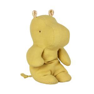 Maileg - 16-9925-00 - Peluche Safari friends, Petit Hippo - jaune citron, taille : H : 22 cm  (406576)