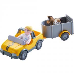 Haba - 303926 - Little Friends – Voiture de vétérinaire avec remorque (406958)