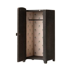 Maileg - 11-9000-00 - Vintage closet w. hangers, Mini - Anthracite - Taille : 22 cm (414376)