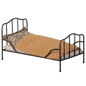 Maileg - 11-9100-01 - Vintage bed, Mini - Anthracite - Taille : 14 cm (414392)
