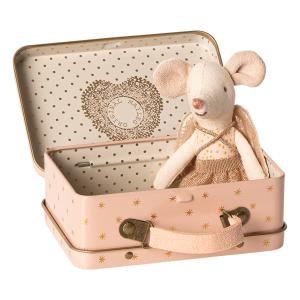 Maileg - 16-9722-01 - Guardian angel in suitcase, Little sister mouse - Taille : 10 cm (414714)