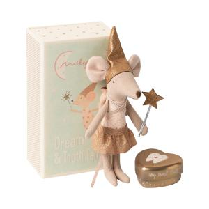 Maileg - 16-0730-01 - Tooth fairy mouse in matchbox, Big sister - Taille 13 cm - de 0 à 36 mois (421610)