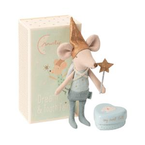 Maileg - 16-0731-01 - Tooth fairy mouse in matchbox, Big brother - Taille 13 cm - de 0 à 36 mois (421660)