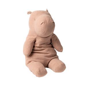 Maileg - 16-0901-00 - Peluche Safari friends, Grand Hippo - rose, taille : H : 54 cm  (421676)