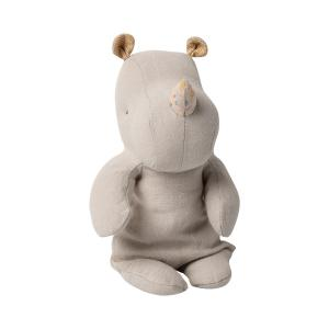 Maileg - 16-0921-00 - Safari friends, Small Rhino - Grey - Taille 22 cm - de 0 à 36 mois (421712)