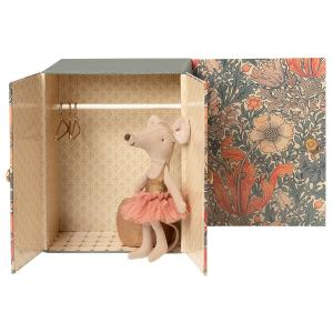 Maileg - 16-0600-00 - Souris dansante, Grande Sœur dans sa salle de danse , taille : H : 13 cm  (421756)