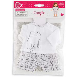 Corolle - 211380 - Les Tenues Complètes Ma Corolle pyjama 2 pièces chats - age 4+ (430520)