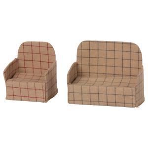 Maileg - 11-0304-00 - Canapé miniature pour souris - Hauteur : 8 cm (455122)