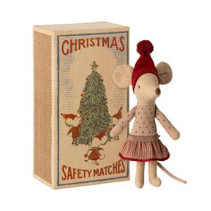 Maileg - 14-0710-00 - Christmas mouse in box - Big sister - Hauteur : 17 cm (455258)