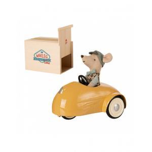Maileg - 16-0727-01 - Mouse car w. garage - Yellow - Hauteur : 10 cm (455340)