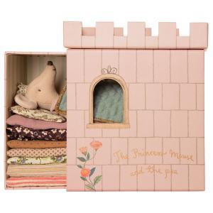Maileg - 16-0738-01 - Princess and the pea , Big sister mouse - Hauteur : 17 cm (455346)