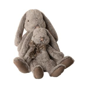 Maileg - 16-0991-01 - Fluffy bunny, X-Large - Grey, taille : H : 43 cm  (455394)
