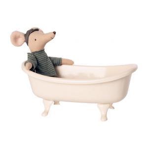 Maileg - BU051 - Baignoire miniature et poupée souris - taille 15 cm (456352)