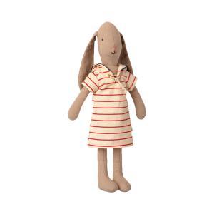 Maileg - 16-1200-00 - Bunny size 2, Striped dress (460954)