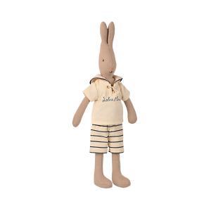Maileg - 16-1220-00 - Rabbit size 2, Sailor - Off-white/petrol (460956)