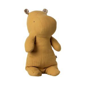 Maileg - 16-1922-00 - Safari friends, Medium Hippo - Jaune moutarde - 34 cm (460980)