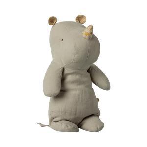 Maileg - 16-1923-00 - Safari friends, Medium Hippo - Gris clair, taille : H : 34 cm  (460986)