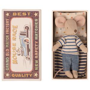 Maileg - 16-1733-01 - Souris Grand Frère dans sa boîte à allumettes, taille : H : 13 cm  (461018)