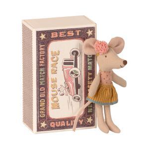 Maileg - 16-1726-01 - Souris Petite Sœur dans sa boîte à allumettes, taille : H : 10 cm  (461042)