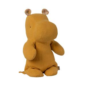 Maileg - 16-1920-00 - Peluche Safari friends, Petit Hippo - Jaune moutarde, taille : H : 22 cm  (461044)