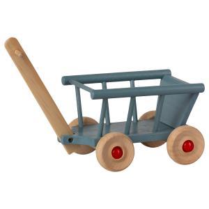 Maileg - 11-1003-00 - Chariot, Micro - Bleu, taille : H : 11,5 cm - L : 8 cm - l : 12 cm (461094)