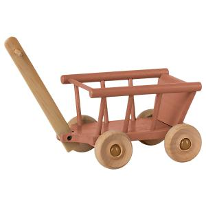 Maileg - 11-1003-01 - Chariot, Micro - Rose foncé, taille : H : 12 cm - L : 8 cm - l : 11,5 cm (461096)