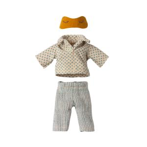 Maileg - 16-1740-03 - Pyjama pour Papa souris, taille : H : 1,5 cm - L : 7 cm - l : 7 cm (461106)