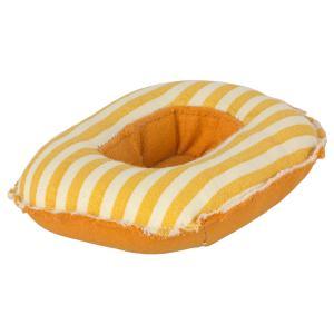 Maileg - 11-1403-00 - Bateau pneumatique pour petite souris - Rayures jaunes, taille : H : 3 cm - L : 7 cm - l : 10 cm (461112)