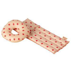 Maileg - 11-1401-01 - Matelas gonflable pour souris - Motifs pois rouges, taille : H : 1 cm - L : 5 cm - l : 13 cm (461126)