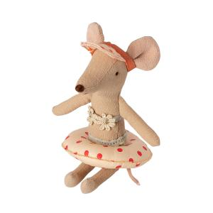 Maileg - 11-1402-01 - Bouée pour petite souris - Motifs pois rouges, taille : H : 1,5 cm - L : 7 cm  (461142)