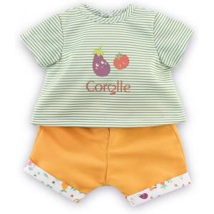 Corolle - 9000110540 - Vêtements pour bébé Corolle 30 cm -  t-shirt & bermuda la fête du potager (466454)