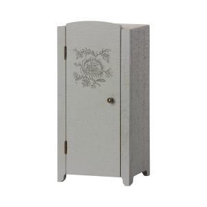 Maileg - 11-1009-00 - Armoire miniature - Gris/menthe, taille : H : 23 cm - L : 11 cm - l : 8 cm (471962)