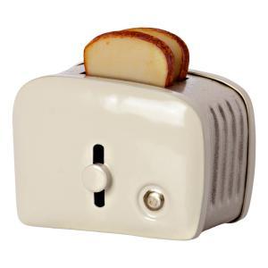 Maileg - 11-1108-00 - Grille pain & pain miniature - Blanc cassé, taille : H : 4,5 cm - L : 4,5 cm - l : 3 cm (471972)