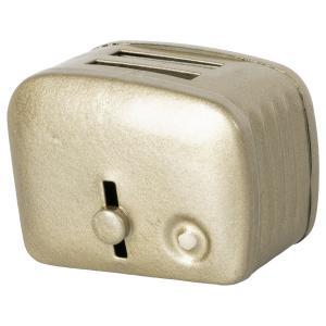 Maileg - 11-1108-01 - Grille-pain miniature & pain - Argent, taille : H : 4,5 cm - L : 4,5 cm - l : 3 cm (471974)