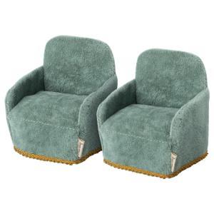 Maileg - 11-1408-00 - Chaise - 2 pack , Souris, taille : H : 8 cm - L : 7 cm - l : 6 cm (472002)