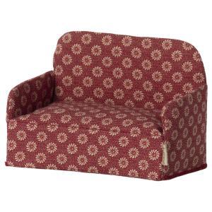 Maileg - 11-1409-01 - Canapé, Souris - Rouge, taille : H : 8 cm - L : 11 cm - l : 6,5 cm (472006)