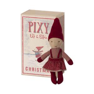 Maileg - 14-1490-00 - Pixy Elfie dans la boîte d'allumettes, taille : H : 14 cm  (472074)