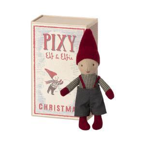 Maileg - 14-1491-00 - Pixy Elf dans la boîte d'allumettes, taille : H : 14 cm  (472076)